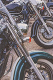 Bikes parked in a row Royalty Free Stock Photo