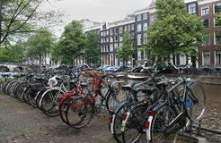 Bikes parking along the Keizersgracht, Stock Photography