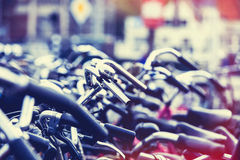 Bikes on parking Stock Photo