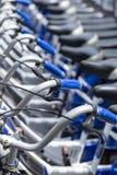 Bikes parking for rent university Stock Image