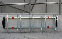 1-5 bikes parking stand. Stock Images