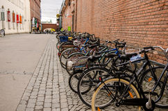 Bikes parking in Tampere Finland Stock Image