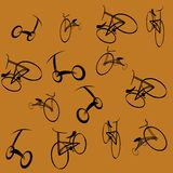 Bikes pattern Stock Photos