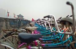 Bikes in the rain, China Royalty Free Stock Photo