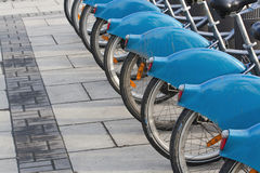 Bikes for rent Stock Image