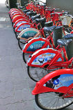 Bikes for rent. In hangzhou city china Royalty Free Stock Image