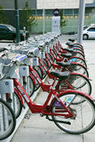Bikes for rent in downtown of Denver Stock Image