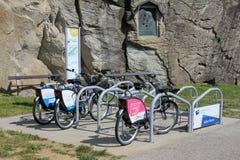 Bikes for rent - eco option Stock Image