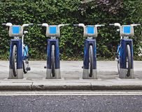 Bikes for rent in London. Royalty Free Stock Images