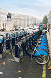 Bikes for rent in London. Much Bikes for much rent Royalty Free Stock Photography