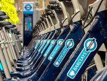 Bikes for rent in London Stock Images