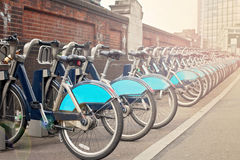 Bikes for rent in London Stock Image
