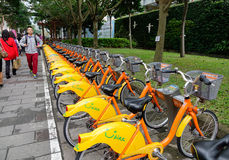 Bikes for rent in Taipei, Taiwan Stock Image
