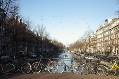 Bikes on the river royalty free stock photo