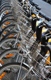 Bikes in a row Royalty Free Stock Images