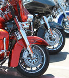 Bikes in a row Stock Image