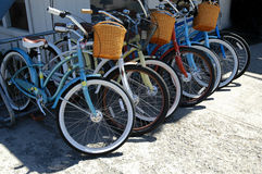 Bikes in a Row Royalty Free Stock Photography