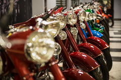 Bikes in a row Royalty Free Stock Photos