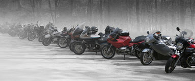 Bikes in a row Royalty Free Stock Image