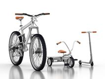 Bikes and scooter Stock Photos