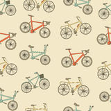 Bikes seamless pattern. Stock Images