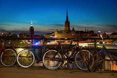 Bikes in Stockholm Stock Photo