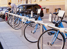 Bikes. To save time in the city Royalty Free Stock Photo