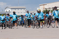 Bikes. Udon Thani, Thailand, August 16, 2015: bikes for a cycling event at the mother biking together in the streets. Energize the Queen Mother Royalty Free Stock Photos