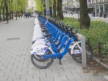 Bikes- use them, leave them Stock Photos