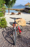 Bikes on vacation stock photography