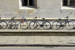 Bikes and wall Royalty Free Stock Photography