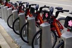 Bikeshare capitale Immagine Stock Libera da Diritti