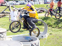 Biketrial Czech Championship Stock Image