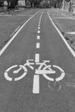 Bikeway stockfoto