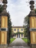 Bikeway along the Naviglio Grande from Abbiategrasso to Turbigo, Royalty Free Stock Images