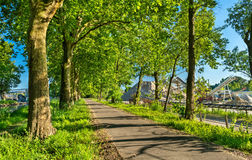 Bikeway along the Rhone - Rhine Canal in Alsace, France Stock Photography