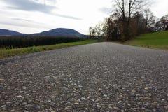 bikeway an einem Herbstnovember-Nachmittag Stockbild