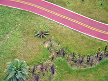 Bikeway and garden. Detail of the bikeway on the city of santos in brazil royalty free stock images
