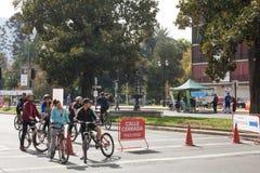 Bikeway i Santiago, Chile Fotografering för Bildbyråer