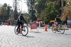 Bikeway i Santiago, Chile Arkivbild
