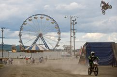 biking άκρο ρύπου Στοκ Φωτογραφίες