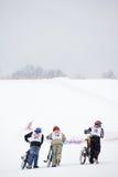 biking ακραίο χιόνι βουνών στοκ εικόνα με δικαίωμα ελεύθερης χρήσης