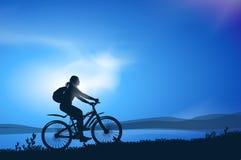 Biking. Διανυσματική απεικόνιση Στοκ εικόνες με δικαίωμα ελεύθερης χρήσης