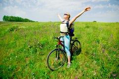 biking κορίτσι Στοκ Φωτογραφία
