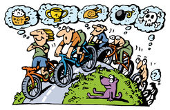 biking ομάδα διανυσματική απεικόνιση