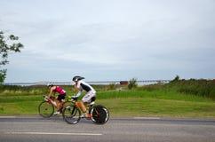 Biking σε Ironman Kalmar Σουηδία 2012 Στοκ Εικόνες