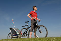 Biking Royalty Free Stock Photography