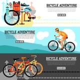 Biking Adventure Horizontal Banners Royalty Free Stock Images