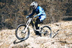 Biking als extreme en pretsport Stock Foto's