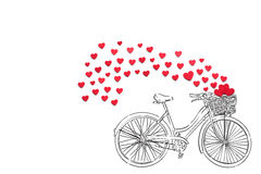 Biking ao amor Fotografia de Stock Royalty Free